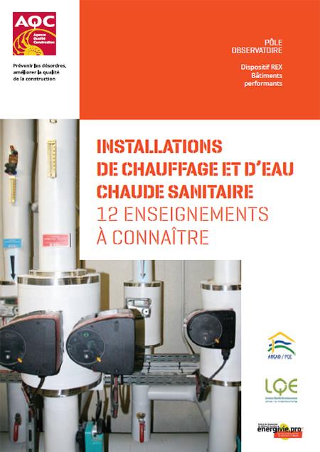 Installations de chauffage et d'eau chaude sanitaire